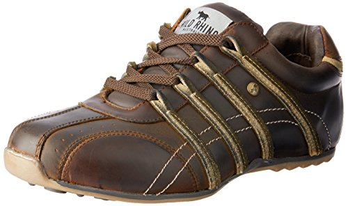 Wild Rhino Men Kaka Trainers Shoes Brown (Coffee)