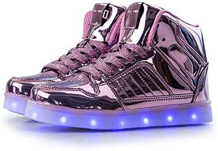 V2 Kids HI TOP LED Light Up Shoes Luminous Flashing Sneakers - 4