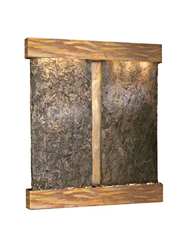 - Adagio Cottonwood Falls Fountain w/Green Natural Slate in Rustic Copper Finish