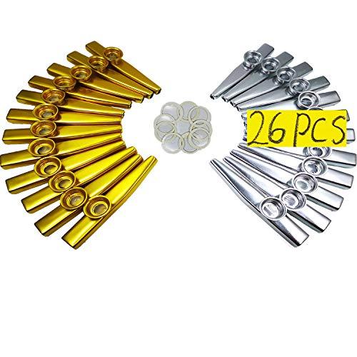 26 Kazoos Metalicos + 20 Diafragmas de Flauta