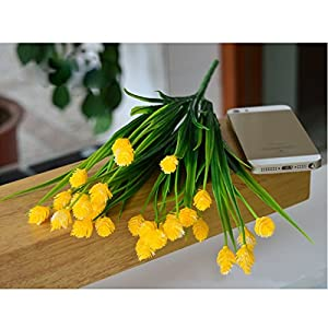FYYDNZA 1 Set 6 Forks Branches Simulation Pine Nuts Fake Flower Decoration Living Room Wedding Decoration Artificial Home Decor,Yellow 33