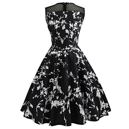 Prom Black Dresses WOCACHI Vintage Sleeveless Party Retro Women Evening 5 Dress xwS0z