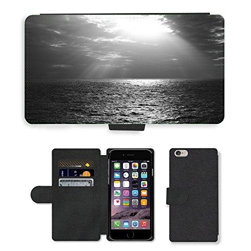 """PU Leather Cover Custodia per // M00421581 Rayons de soleil Sky Clouds mer océan // Apple iPhone 6 PLUS 5.5"""""""