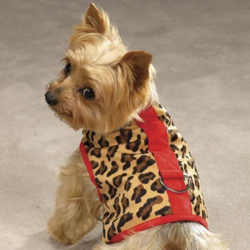 Z & Z Safari Harness Vest Xsm Red Leopard