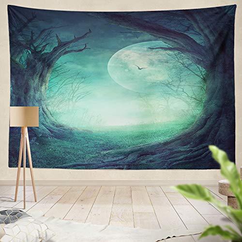 Summor Tapestry Wall Hanging Halloween Spooky Tree Horror