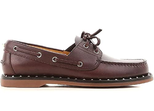 VALENTINO GARAVANI - Zapatillas de Cuero para Hombre Marrón marrón: Amazon.es: Zapatos y complementos