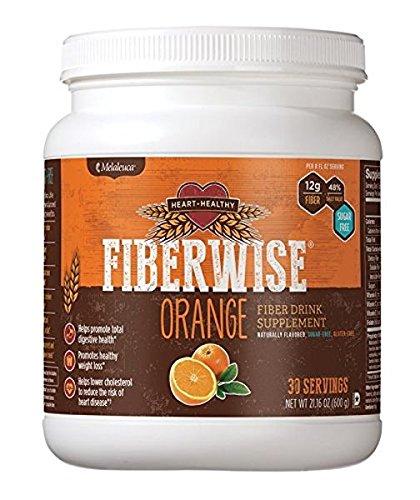 Citrus Fiber Supplement (Melaleuca FiberWise Heart Healthy-Fiber Supplement-30 Servings-Net WT. 21.16 OZ.(600g) - Orange)