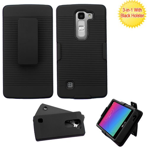 Asmyna Phone Case for LG H443 (Escape 2) LG Logos - Retail Packaging - Black