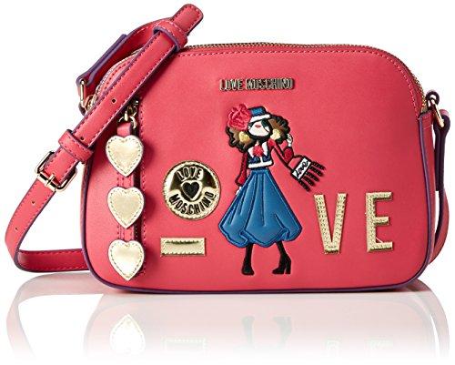 Love Moschino Borsa Calf Pu Fuxia - Borse Baguette Donna, Pink (Fuchsia), 16x23x8 cm (B x H T)