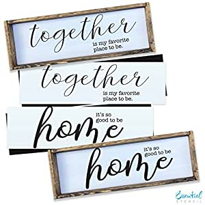 Amazon home together wood sign stencil set perfect for home together wood sign stencil set perfect for painting on wood diy french spiritdancerdesigns Images