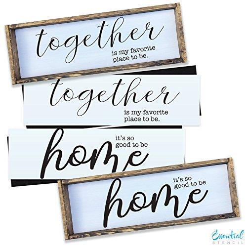 HOME + TOGETHER Wood Sign Stencil Set |