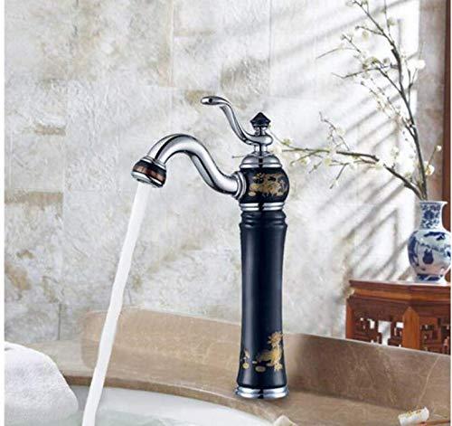 Wasserhahn Waschtischmischer New Porzellan und Messing Wasserhahn Rosa Gold Fertig Badezimmer Becken Wasserhahn Luxus Waschbecken Wasserhahn Waschtischarmatur Höhe Qualität Wasserhahn