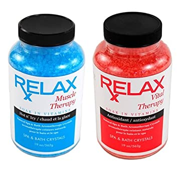 Muscle U0026 Vital Rx Therapy Hot Tub Aromatherapy Crystals  19 Oz Bottles   Natural Therapeutic