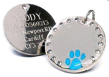 Médaille gravée pour animal domestique, personnalisable- personnalisable- County Engraving