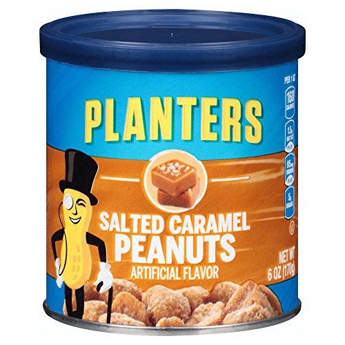 (Planters Salted Caramel Peanuts (6 oz Canisters, Pack of 8))
