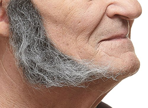 Mutton Chop Sideburns Costume (Realistic L shaped salt and pepper fake mutton chops sideburns, self adhesive)
