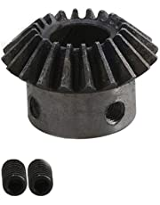 25mm Hole Diameter 2 Modulus Silver 25 Teeth 45# Steel Tapered Bevel Gear Wheel Top Screws 90°Drive