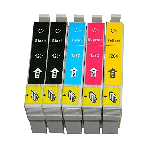 10 Packs Compatible Ink Cartridges for Epson T1261-t1264 Workforce 520 630 633 635 Photo #2