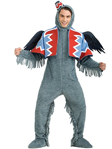 Rubie's Wizard Of Oz 75th Anniversary Edition Deluxe Winged Monkey, Gray, Standard Costume -