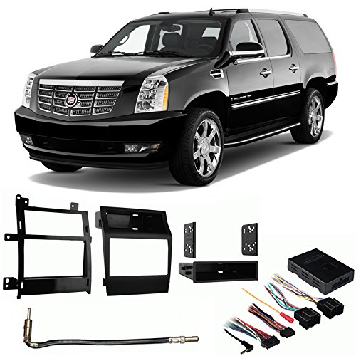 - Fits Cadillac Escalade 2007-2011 Aftermarket Harness Radio Install Dash Kit