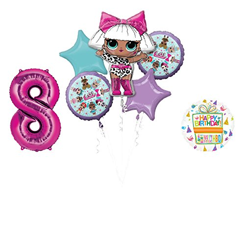 L.O.L. Surprise! Party Supplies 8th Birthday Balloon Bouquet -