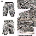 Muscle Alive Hommes Shorts Cargo Camping Randonnée Coupe Slim Camouflage Ancien 100% Coton 10