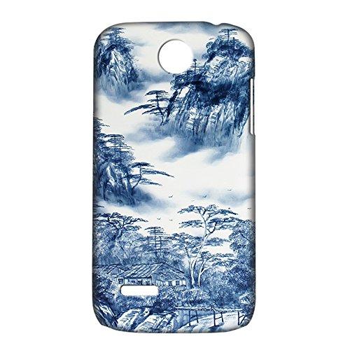 色浦礹c._海浦深蓝 华为 c8812 釉光彩绘手机壳 精选青花瓷个性