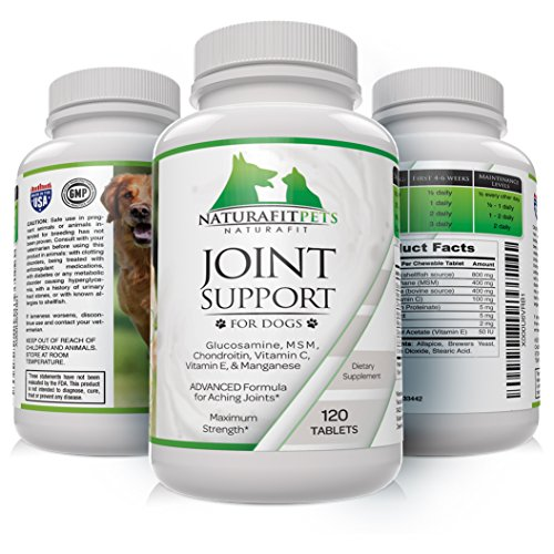 Naturafitpets Joint Support Supplement for Dogs, 120 Tablets