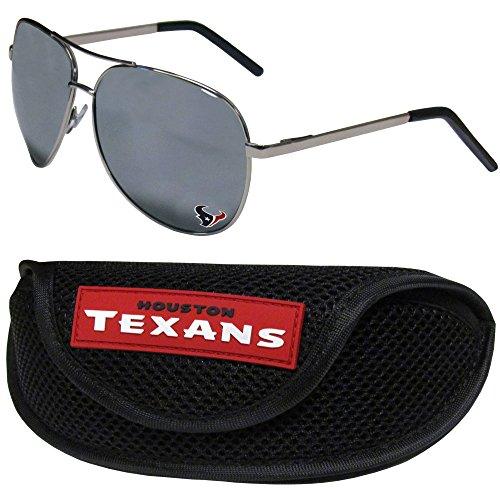 (NFL Houston Texans Aviator Sunglasses & Sports Case)