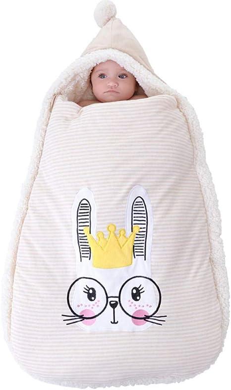 WTFYSYN Saco de Dormir Infantil Verano,Edredón Grueso de Terciopelo de Cordero, imitación uterina bebé Saco de Dormir-Conejo: Amazon.es: Hogar