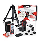 Leica DISTO S910 Pro Pack 984ft Range Laser Distance Measurer Pro Kit, Point to Point Measuring, Hard Case, TRI70 Tripod, FTA360S Adapter, Red/Black