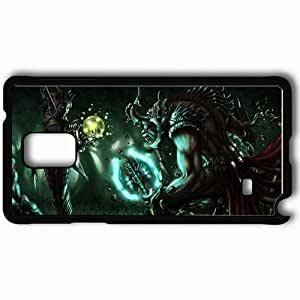 Personalized Samsung Note 4 Cell phone Case/Cover Skin Art Monster Battle Forest Night Onion Black