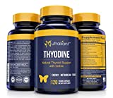 #1 Thyroid Support Supplement w/Iodine, Vitamin B12, Magnesium, Selenium, L-Tyrosine, Ashwagandha, Bladderwrack + Supports Energy, Metabolism & Brain Function – 2X The Amount @ 120 Veggie Capsules For Sale