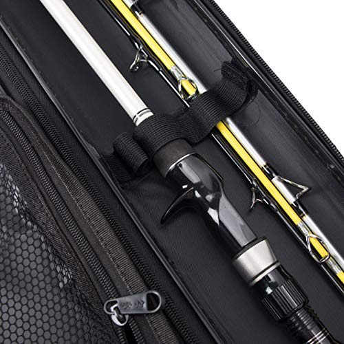 JEKOSEN 2019 Portable Travel Fishing Rod Reel Case,Airliner Fishing Rod Case,Water-Proof&Dust-Proof,New Environmental Materials Pole Reels Tools Storage Case,5FT Length