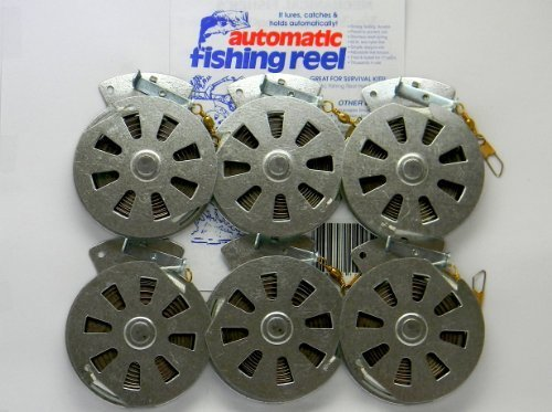 6 Mechanical Fisher's Yo Yo Fishing Reels -Package 1/2 Dozen- Yoyo Fish Trap -(Flat Trigger Model)