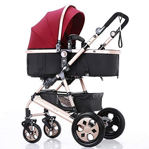 Reversible Sleep Basket Baby Pushchair High Landscape Luxury Baby Stroller for Newborn Baby Pram by Hababy (Image #1)