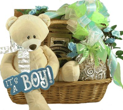 Gift Basket Village Proud Parents Baby Boy Gift Basket
