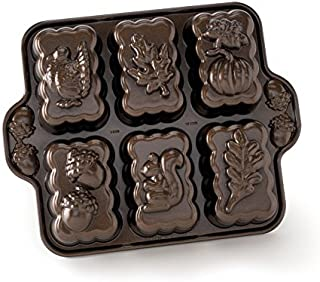 product image for Nordic Ware Harvest Mini Loaf Pan, Bronze, 11.38 x 9 x 1.88 inches, Brown
