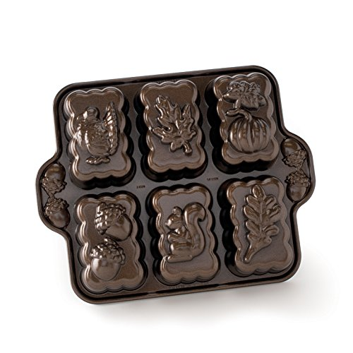 Nordic Ware Harvest Mini Loaf Pan, Bronze by Nordic Ware