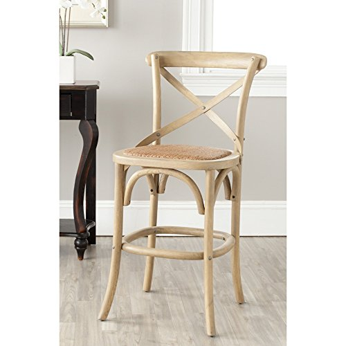 Great American Bar Stools Oak Bar Stools ( Safavieh American Homes Collection Franklin Counter Stool, Oak)