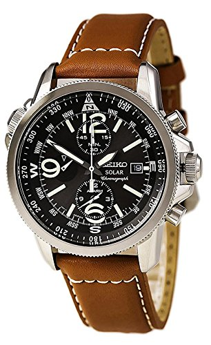 Seiko men 39 s ssc081 adventure solar classic casual watch import it all for Adventure watches