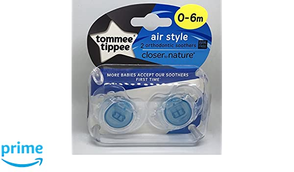 Tommee Tippee Closer To Nature: 2 x Chupete 0-6m (Azul ...