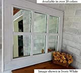 Cheap Herringbone Window 6 Pane Mirror Reclaimed Wood Framed Mirror, Available in 20 Paint colors: Shown in Bright Ivory White – Large Wall Mirror – Rustic Modern Home – Home Decor – Housewares – Woodwork
