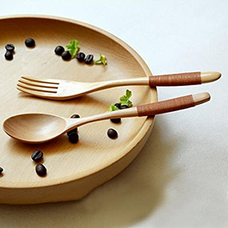 Bento Lunch Box Dinnerware Sets Eco-friendly Tableware Wood Wooden Spoon and Fork 1 Set & Amazon.com: Bento Lunch Box Dinnerware Sets Eco-friendly Tableware ...