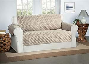 Safari Homeware Cubre Beige/Crema para Sofás de 2 Plazas - Protector para Sofás Muebles Acolchado de Lujo