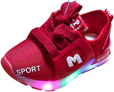 Bébé Chaussures LED Baskets Sport,Xinantime Enfant en Bas âge Bébé Fille a Conduit des Chaussures Légères Garçons Lumineux Sandales de Sport en Plein