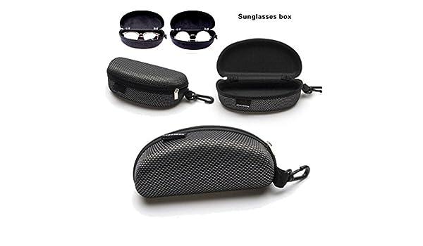 c25e7b11a1 Amazon.com  Protector Box,LtrottedJ Portable Zipper Eye Glasses Sunglasses  Clam Shell Hard Case Protector Box  Office Products