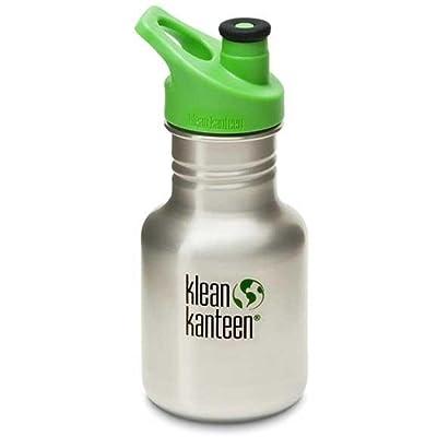 Klean Kanteen - Kid Kanteen classique en acier inoxydable avec bouchon Sport 3.0 brossé en acier inoxydable - 12 once.