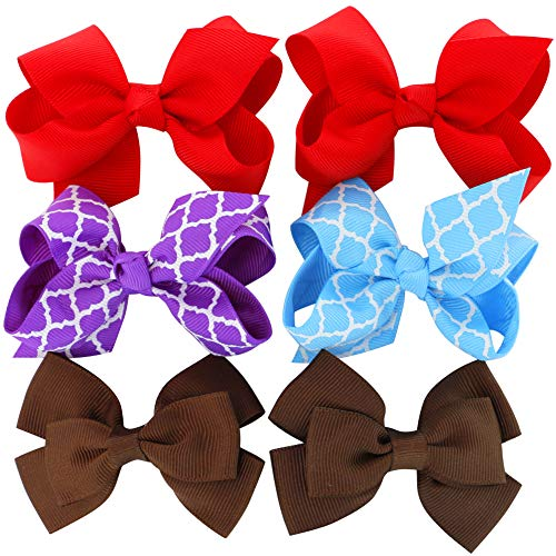 Grosgrain Ribbon Hair Bows Boutique Flowers Clips For Girls Teens Kids Toddlers Set Of 40 by Myamy (Image #4)