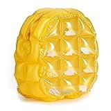 Purebesi Children Inflatable Waterproof Beach Bags PVC Inflatable Backpack Cartoon Durable Water Resistant Backpack Beach Tote Bags Inflatable School Shoulder Backpack (Yellow)